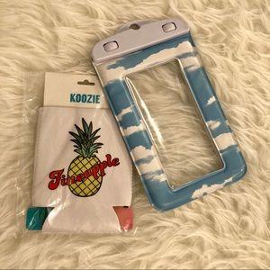 Beach Essentials — Koozie & Waterproof Phone Case